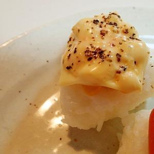 タルタルで ホールコーンとチーズの焼きおにぎり