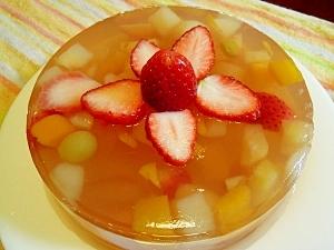 ひな祭りにも☆簡単!フルーツ寒天ケーキ