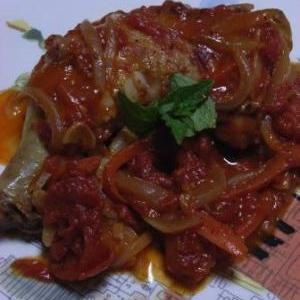 ガッツリ食べたい 鶏もも肉のトマト煮
