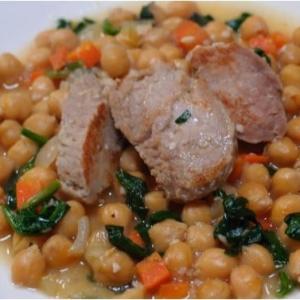 豚ヒレ肉とひよこまめの塩麹煮こみ