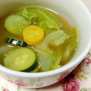 夏野菜のカレースープ
