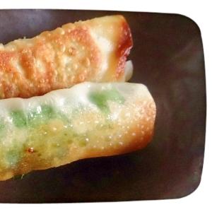 お弁当に☆余ったシュウマイの皮で大葉チーズ巻き