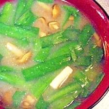 なめこ&ニラ&高野豆腐のお味噌汁
