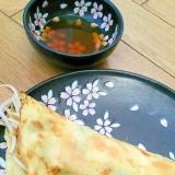 野菜オンリーのパインセオ(ベトナム風お好み焼き)