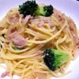 麺つゆでOK!ツナとブロッコリーの和風スパゲッティ