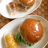夏休みのお昼に★業務スーパーなハンバーガー