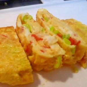 お弁当おかず・カニカマの卵焼き