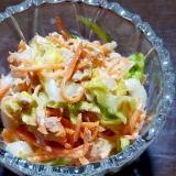 白菜・にんじん・ツナのコールスロー風サラダ