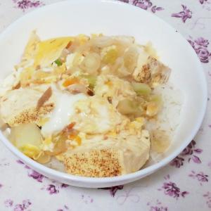 長ネギ豆腐ツナの簡単卵とじ
