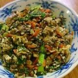常備菜をつかって簡単いり豆腐