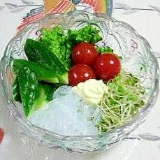 春雨入りのマヨネーズサラダ~♪