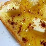 クリームチーズとマーマレードのトースト
