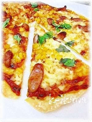 サックサク☆おつまみにも♡クリスピーなピザ♪