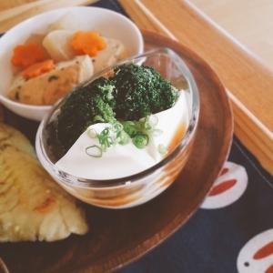 ブロッコリーと豆腐の香味ダレかけ【脂質3.0g】