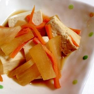 お手軽もう一品☆豆腐と大根の煮物