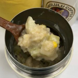 カブとコーンのチーズスープ オートミール