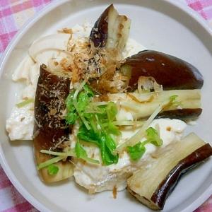 ゆずこしょうぽん酢で!茄子と寄せ豆腐