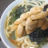 魚肉ソーセージ&干椎茸&ちくわ鯉のぼりの若布うどん