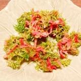 ニンジン葉☆紅生姜かき揚げ
