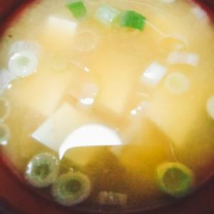 豆腐ネギの味噌汁