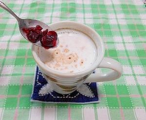 クランベリー&苺ジャムホットミルク
