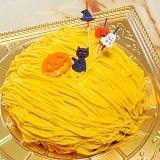 ハロウィンにぜひ!南瓜のモンブランドームケーキ♪