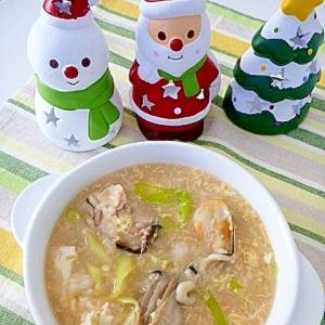 海のミルク♥スープが多めの「牡蠣雑炊」
