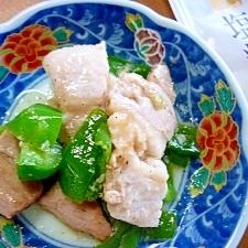 豚バラ肉とピーマンの塩麹炒め