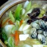 牡蠣鍋 (我が家の味)