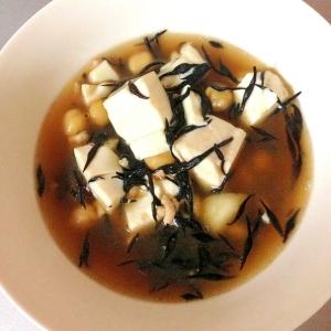 ひよこ豆と豆腐の和風スープ