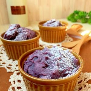 紫芋のしっとり〜♪HMで簡単カップケーキ♡