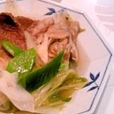 猪肉でぼたん鍋風