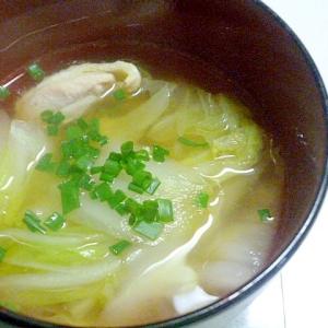 簡単♪生姜が香る♪とりもも肉と白菜のシンプルスープ