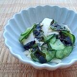 長芋とわかめの♡きゅうりの酢の物