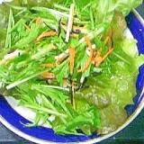 ミネラルを積極的に食べよう!ヒジキとみず菜のサラダ