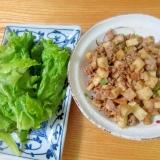 筍豚肉味噌炒めレタスロール