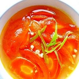 トマトと人参の中華スープ