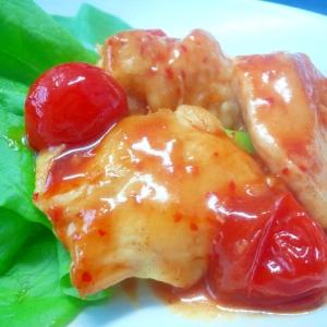 鶏肉とトマトのスイートチリソテー