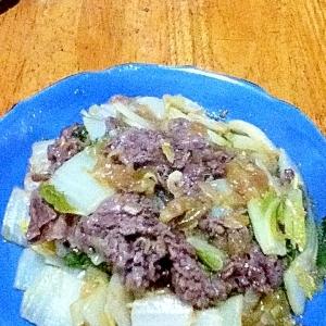 牛肉と白菜の香味野菜たれ