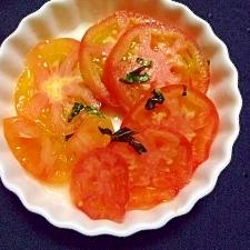 簡単 トマト&バジルのマリネ