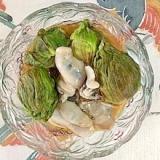 牡蠣とふきのとうの和え物