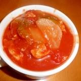 チキンボールと冬野菜のトマト煮