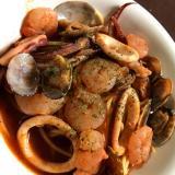 魚介のピリ辛トマトスープパスタ