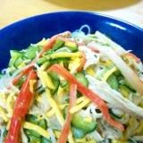 中華ごまドレで春雨サラダ