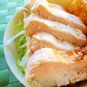 鶏むね肉の生姜塩麹漬け焼き