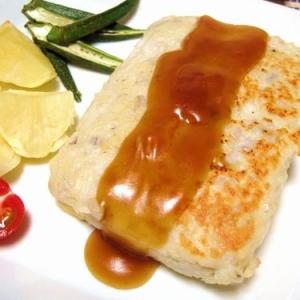 イカ&豆腐♪二層のヘルシーバーグ