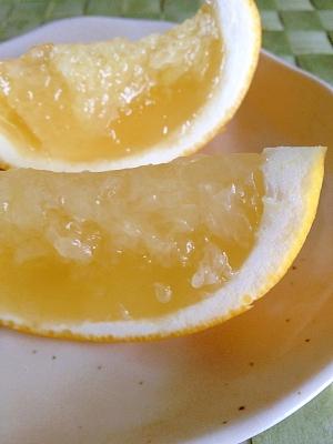 手土産にも♪グレープフルーツの炭酸ゼリー