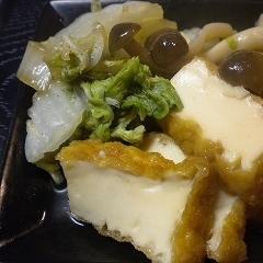 白菜しめじ厚揚げ煮物