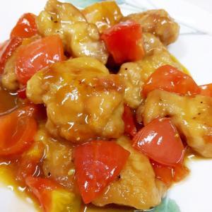 鶏肉とフレッシュトマトの甘酢煮