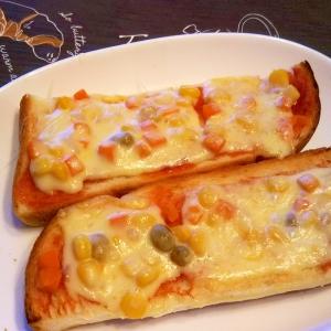 ミックスベジタブル・チーズトースト